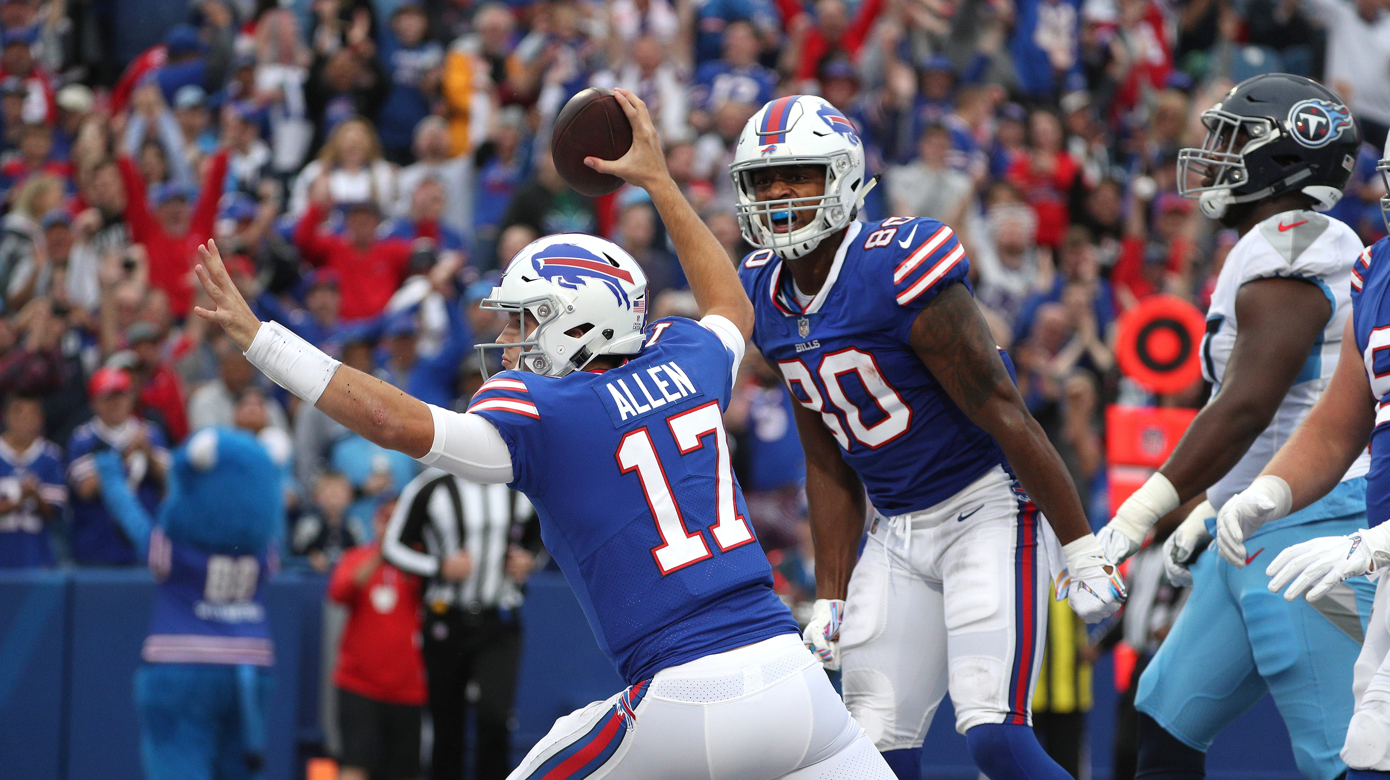 Bills quarterback Josh Allen's stats were ugly but he doesn't care one bit