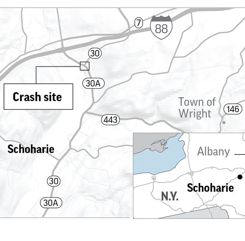 Report: Rochester man's kin among 20 killed in limo crash near Albany