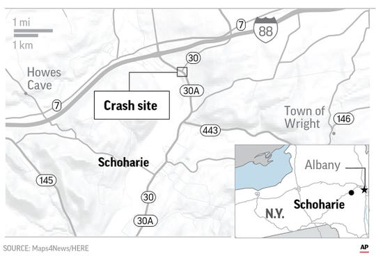 State police say 20 people died in a crash in upstate New York that local officials say involved a limousine near a crowded tourist spot.