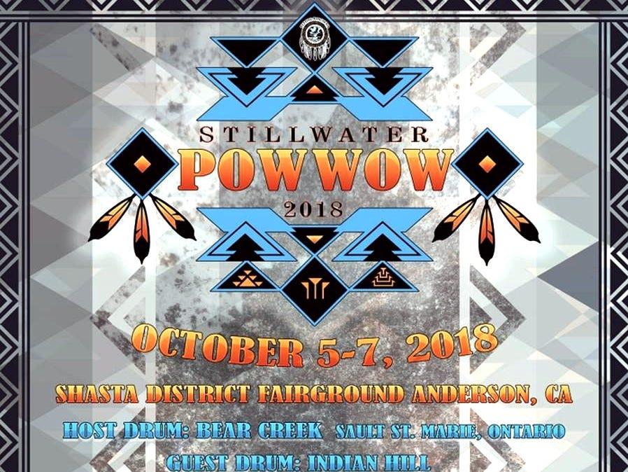 Poster advertises the 2018 Stillwater Powwow.