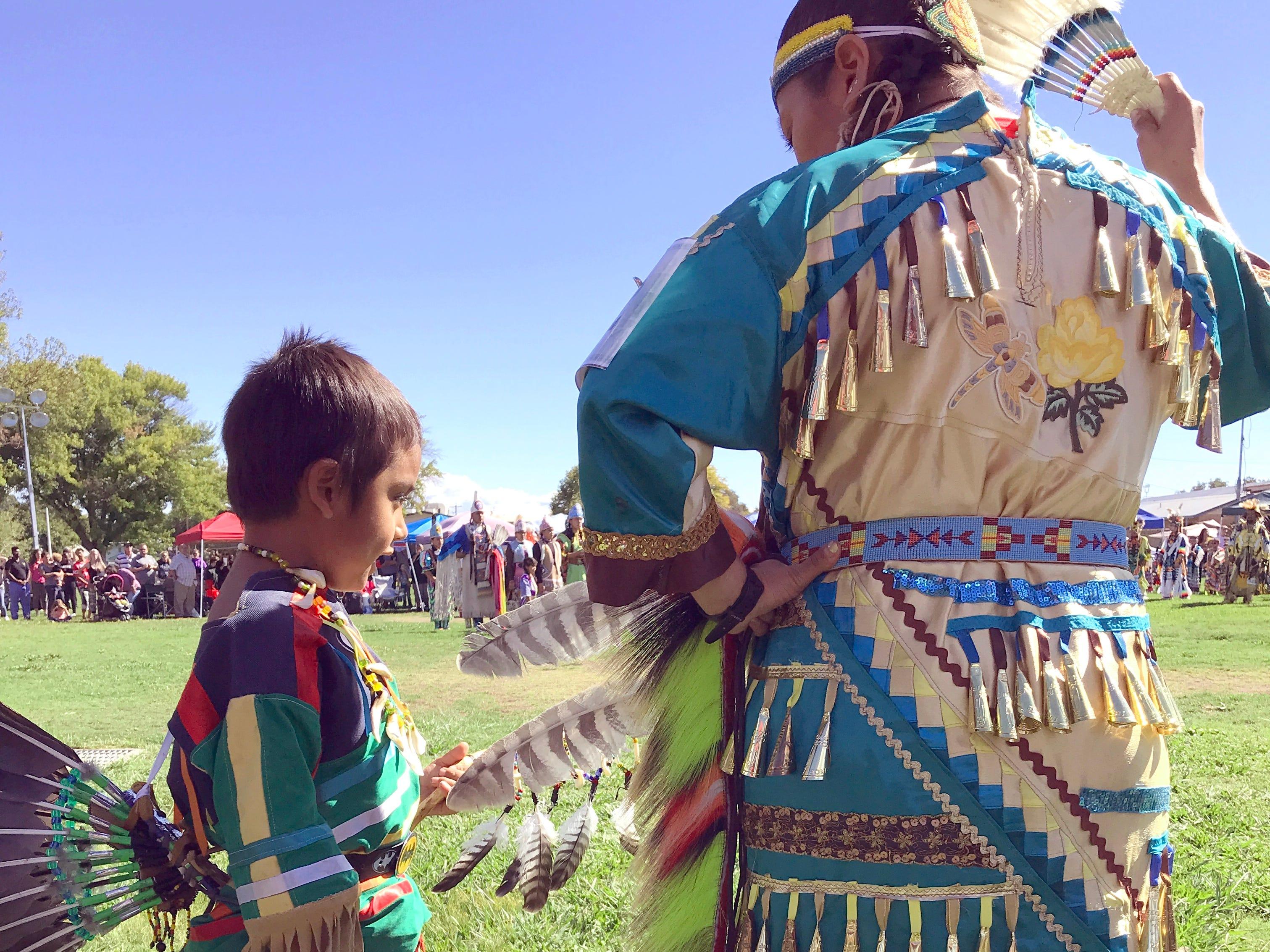 Two dancers at Saturday's Stillwater Powwow.
