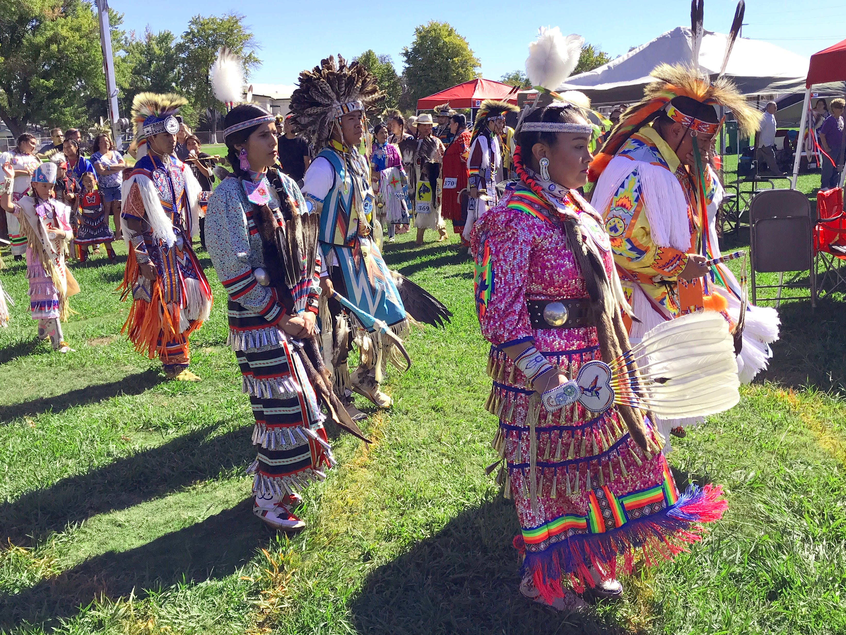 Saturday afternoon's grand entry at the 2018 Stillwater Powwow at the Shasta District Fair grounds.