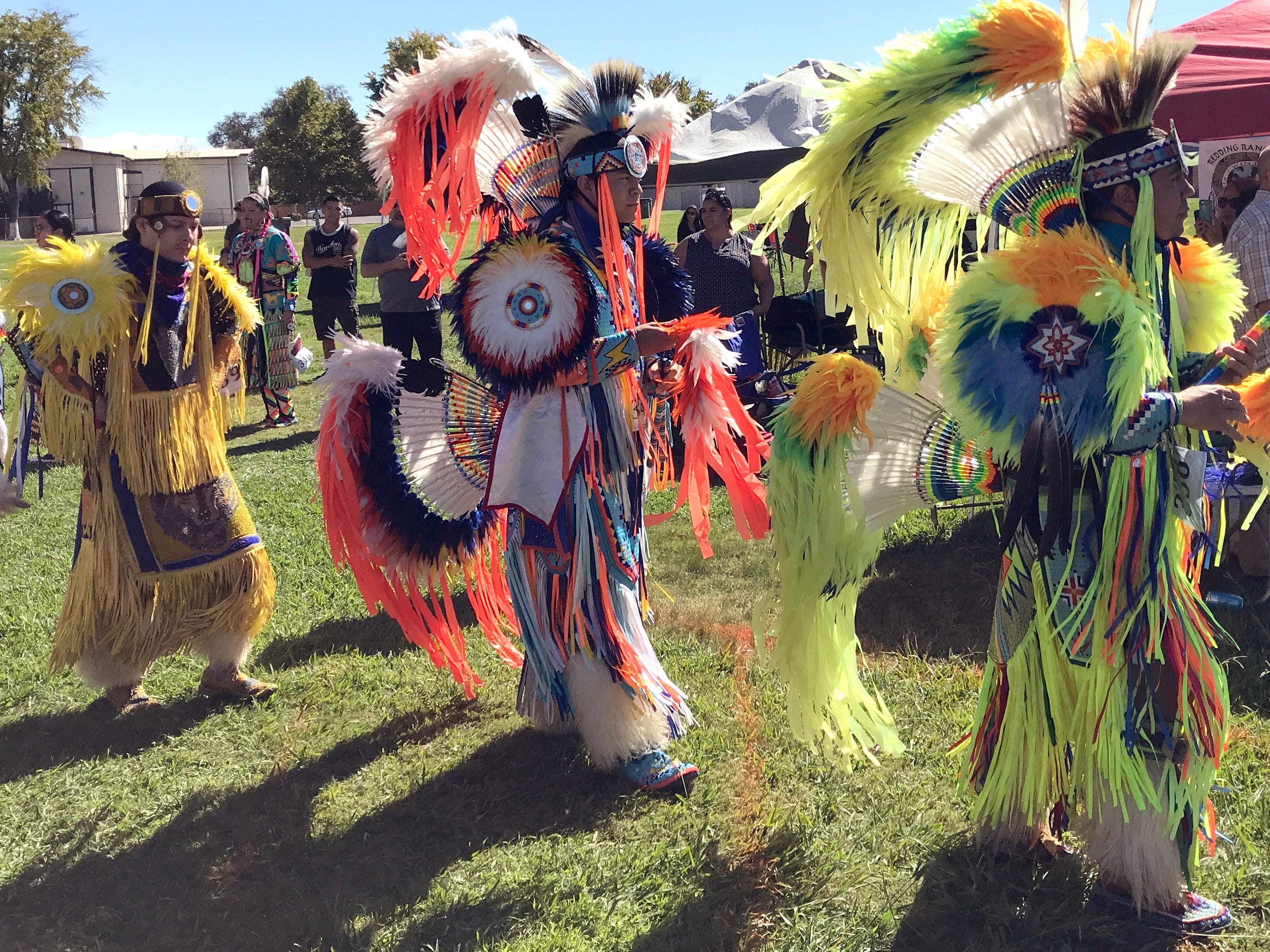 Saturday afternoon's grand entry for the 2018 Stillwater Powwow.
