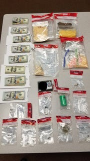 Drugs and money allegedly found in a vehicle in King City Wednesday.