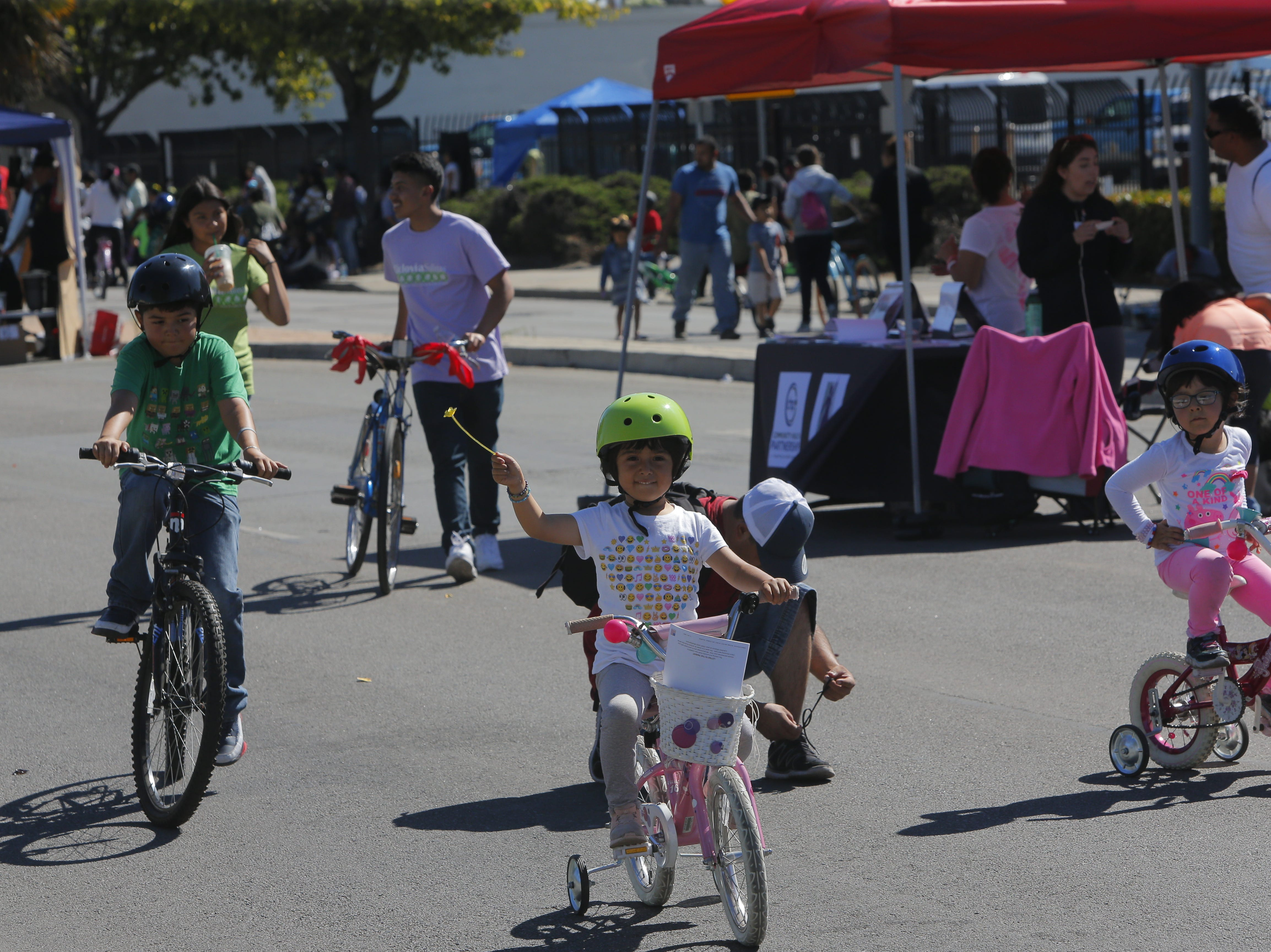 Thousands turned out to pedal, ride and explore 2018's Ciclovia on E. Alisal Street Sunday.