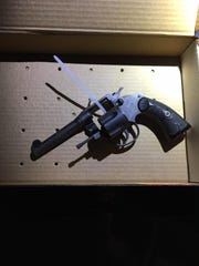 A revolver found in a vehicle with a DUI driver, according to authorities
