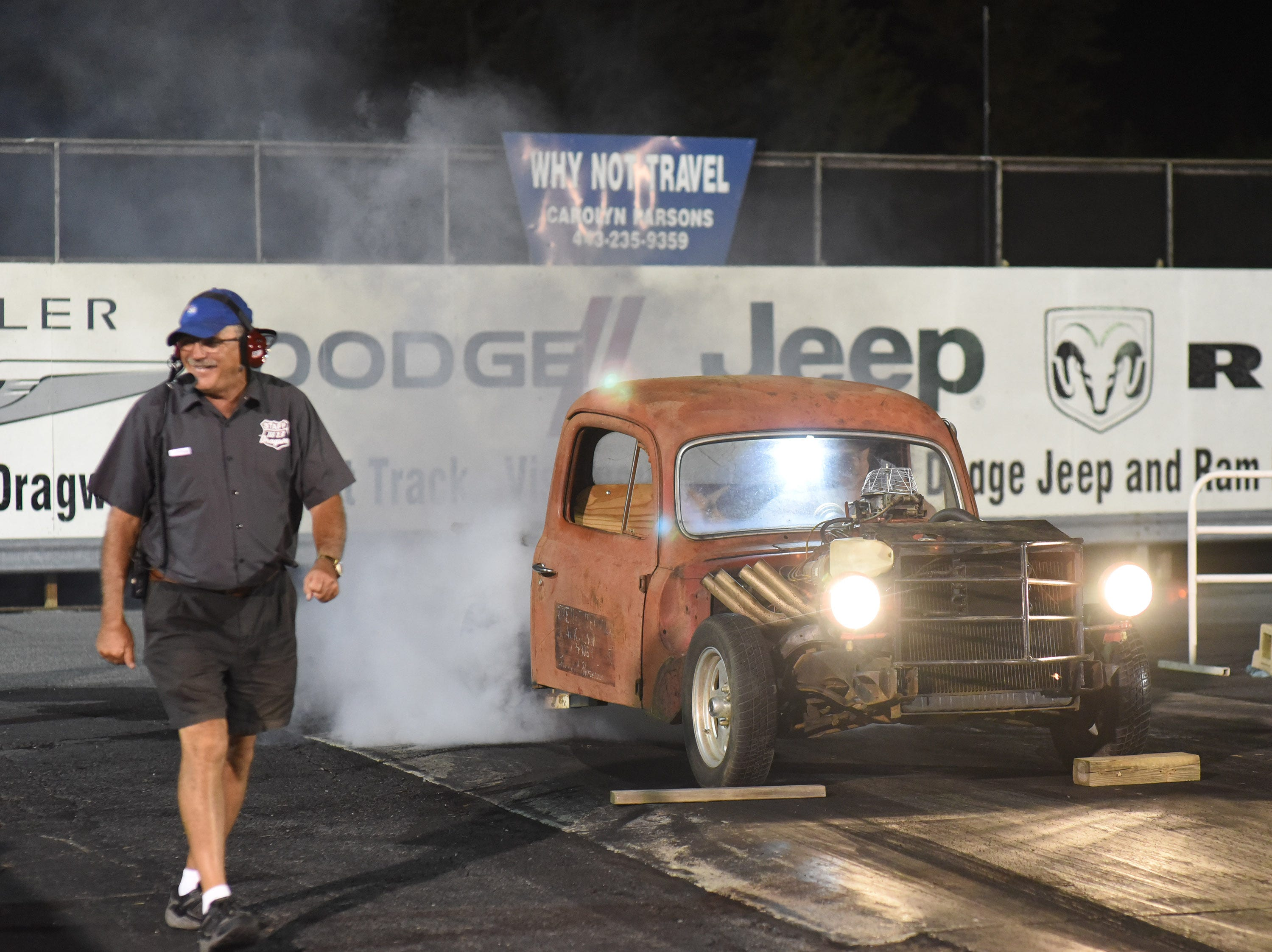 The first Endless Summer Cruisin' 2018 Burnout Contest at the U.S. 13 Dragway in Delmar. Billy McLamb of Mardela Springs was the winner of the contest and $500 sponsored by Special Event Productions Inc. (Photo by Todd Dudek for The Daily Times)