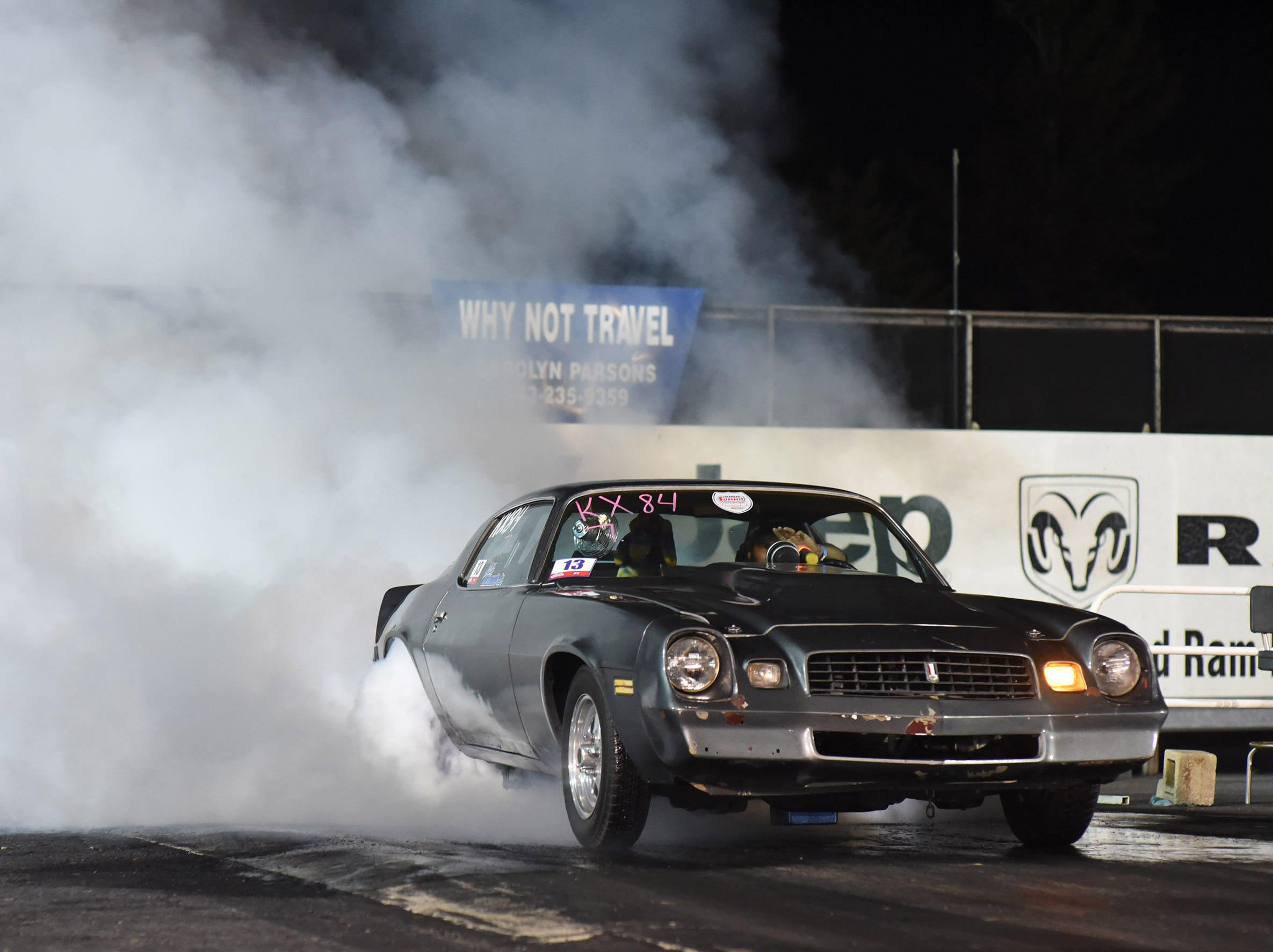 Billy McLamb competes in the first Endless Summer Cruisin' 2018 Burnout Contest at the U.S. 13 Dragway in Delmar. McLamb of Mardela Springs was the winner of the contest and $500 sponsored by Special Event Productions Inc. (Photo by Todd Dudek for The Daily Times)