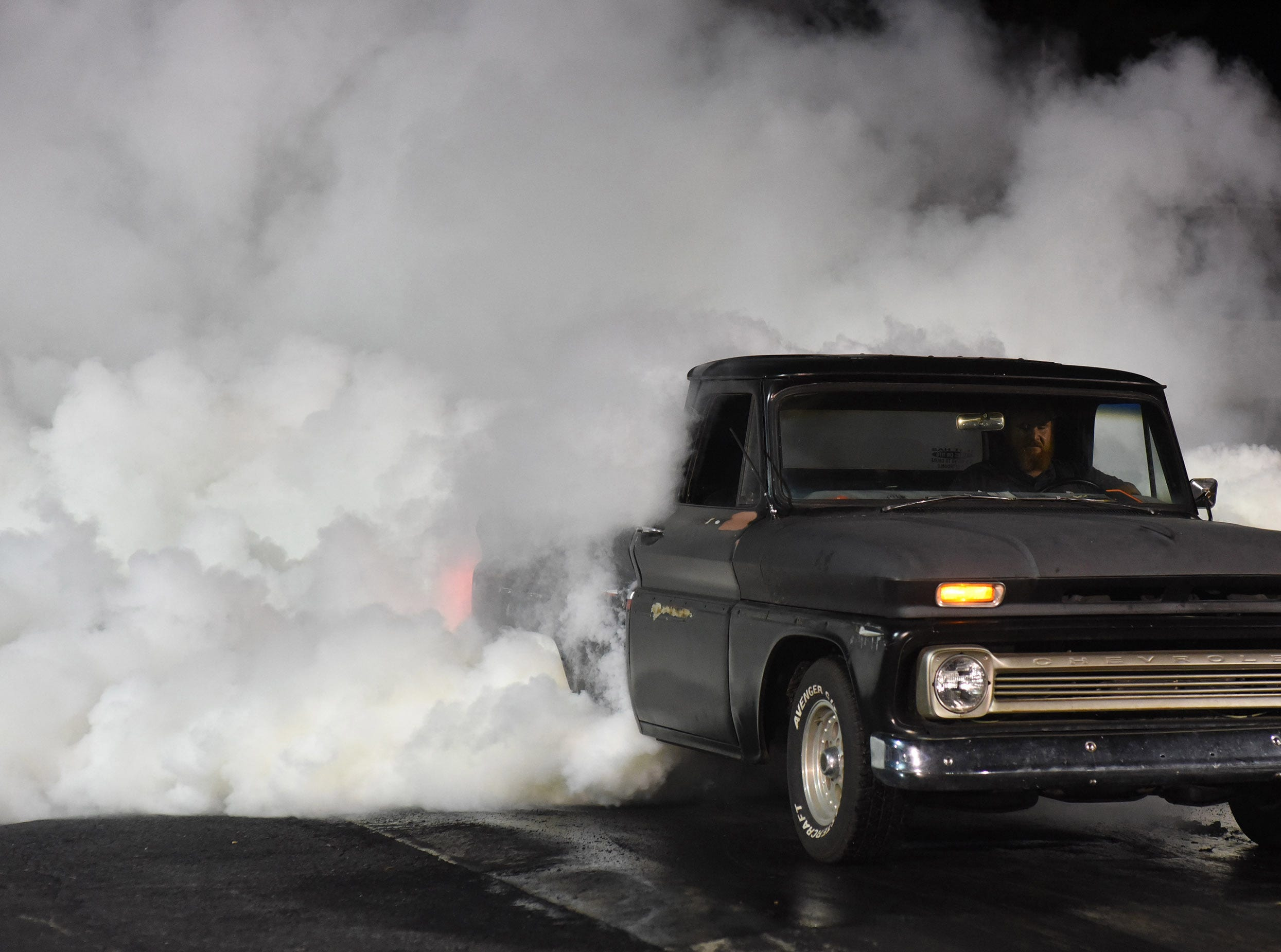 T.J. Hudson competes in the first Endless Summer Cruisin' 2018 Burnout Contest at the U.S. 13 Dragway in Delmar. Billy McLamb of Mardela Springs was the winner of the contest and $500 sponsored by Special Event Productions Inc. (Photo by Todd Dudek for The Daily Times)