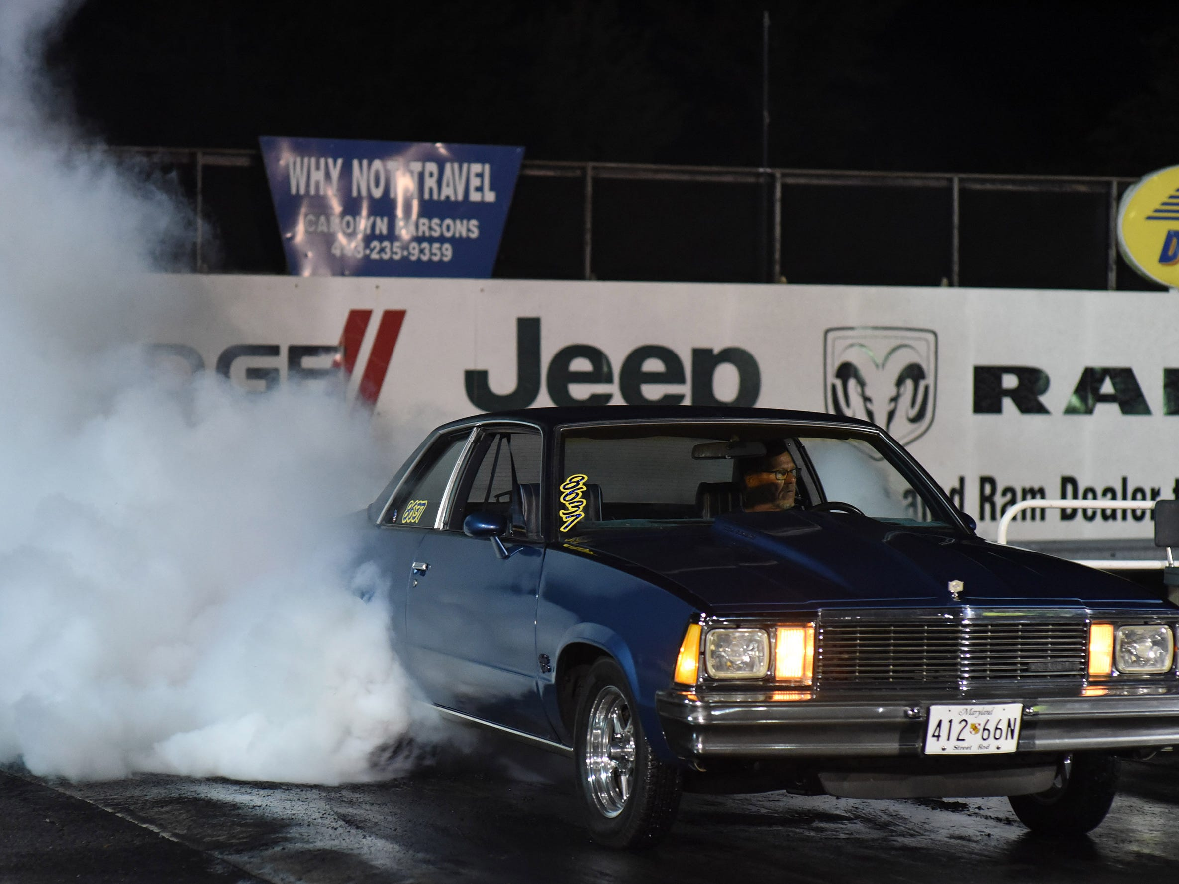 Billy Collingsworth competes in the first Endless Summer Cruisin' 2018 Burnout Contest at the U.S. 13 Dragway in Delmar. Billy McLamb of Mardela Springs was the winner of the contest and $500 sponsored by Special Event Productions Inc. (Photo by Todd Dudek for The Daily Times)