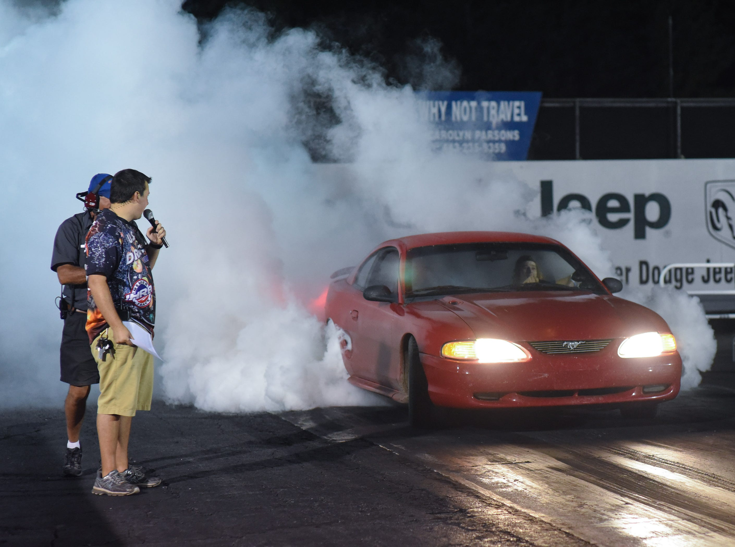 A competitor vies in the first Endless Summer Cruisin' 2018 Burnout Contest at the U.S. 13 Dragway in Delmar. Billy McLamb of Mardela Springs was the winner of the contest and $500 sponsored by Special Event Productions Inc. (Photo by Todd Dudek for The Daily Times)