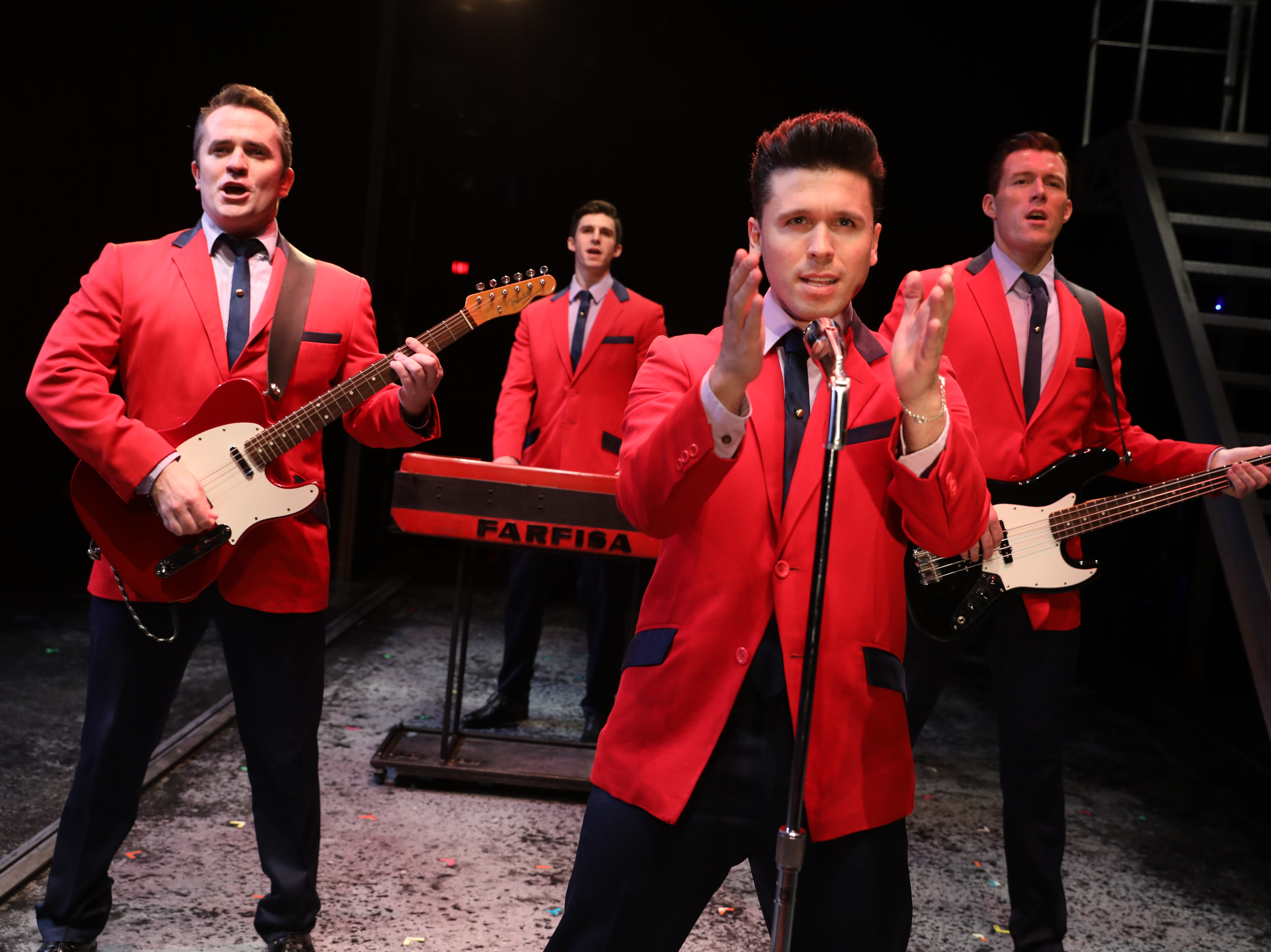 """From left, Corey Greenan, Eric Chambliss, Jonny Wexler and Jonathan Cable in """"Jersey Boys."""""""