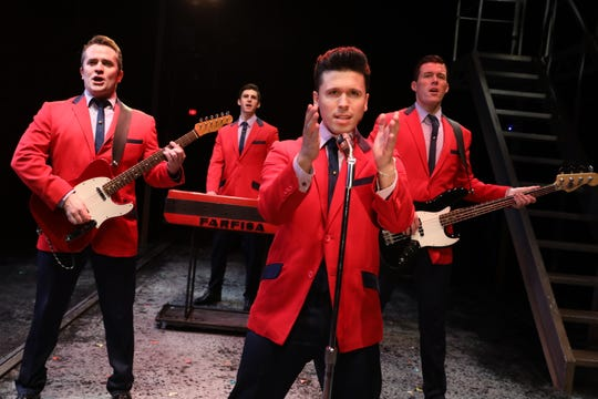 "From left, Corey Greenan, Eric Chambliss, Jonny Wexler and Jonathan Cable in ""Jersey Boys."""