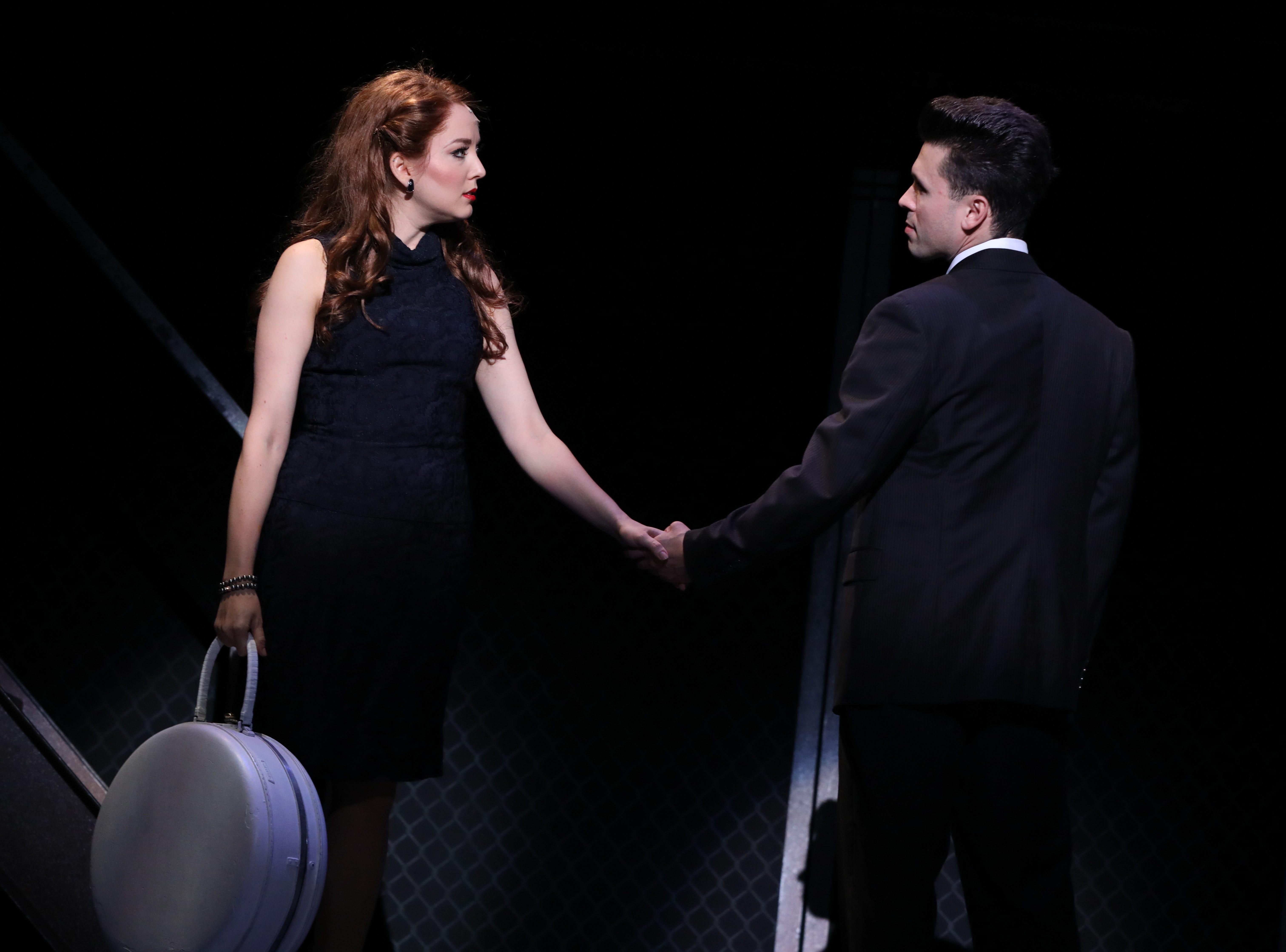"Jessica Wockenfuss and Jonny Wexler in ""Jersey Boys."""