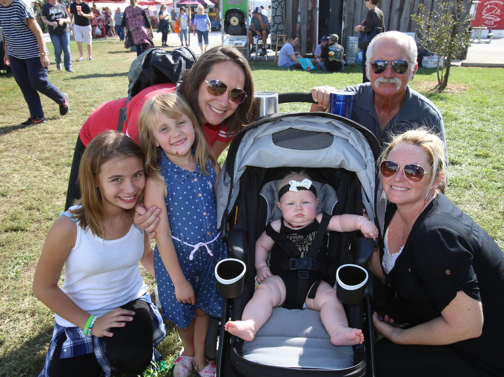 Sara, Riley, and Gracie Henderson, Cecil Keene, and Brandi and Aurora Lea