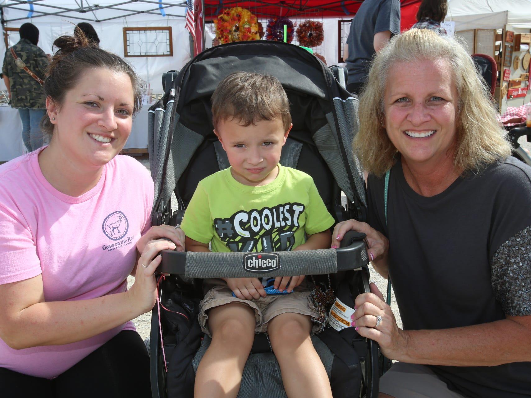 Rachel Mertz, Grayson Predmore, and Cherie Matney