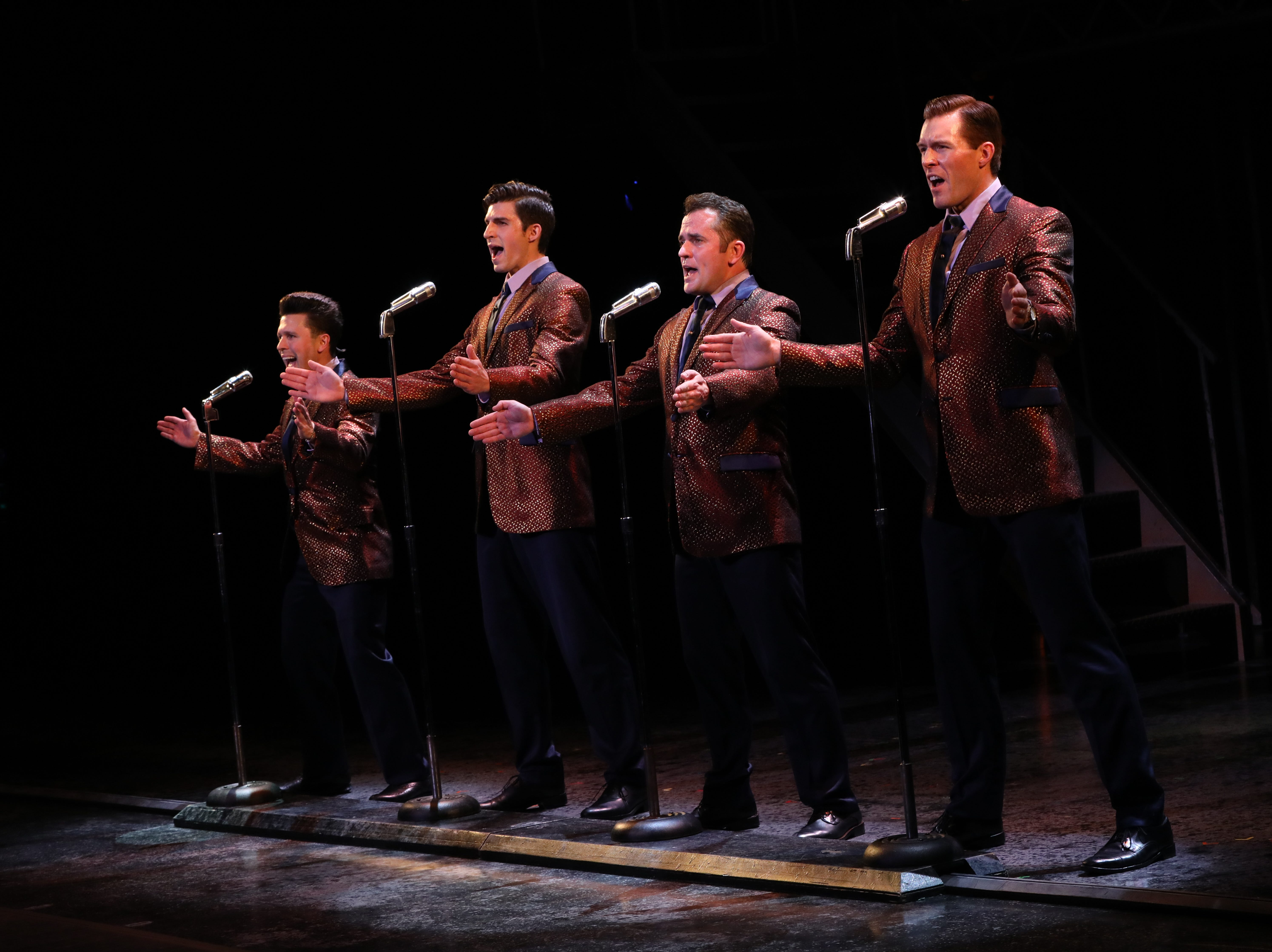 """Jonny Wexler, Eric Chambliss, Corey Greenan and Jonathan Cable, from left, in """"Jersey Boys."""""""