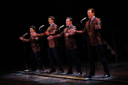 "Jonny Wexler, Eric Chambliss, Corey Greenan and Jonathan Cable, from left, in ""Jersey Boys."""