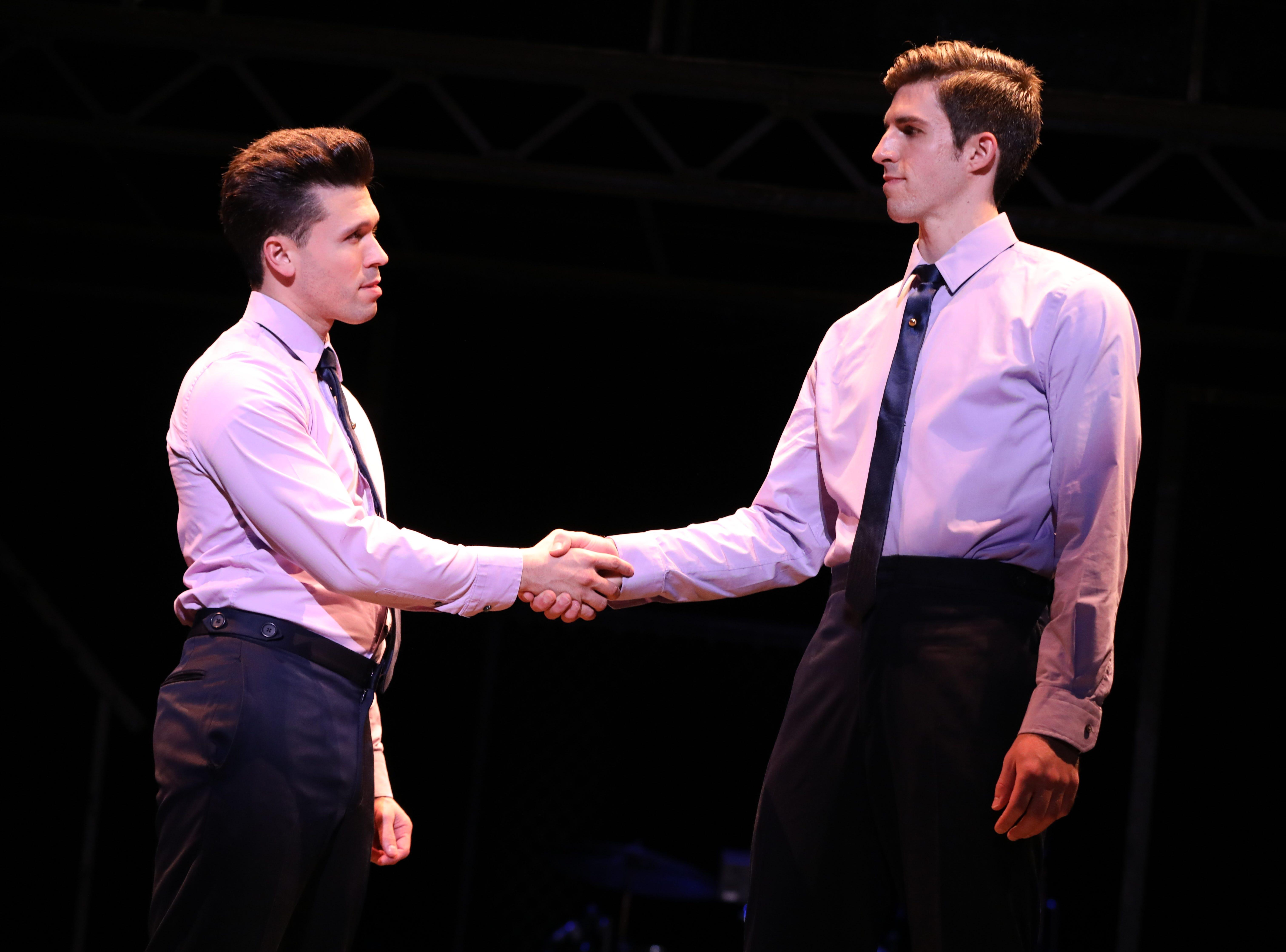 "Jonny Wexler, left, and Eric Chambliss in ""Jersey Boys."""