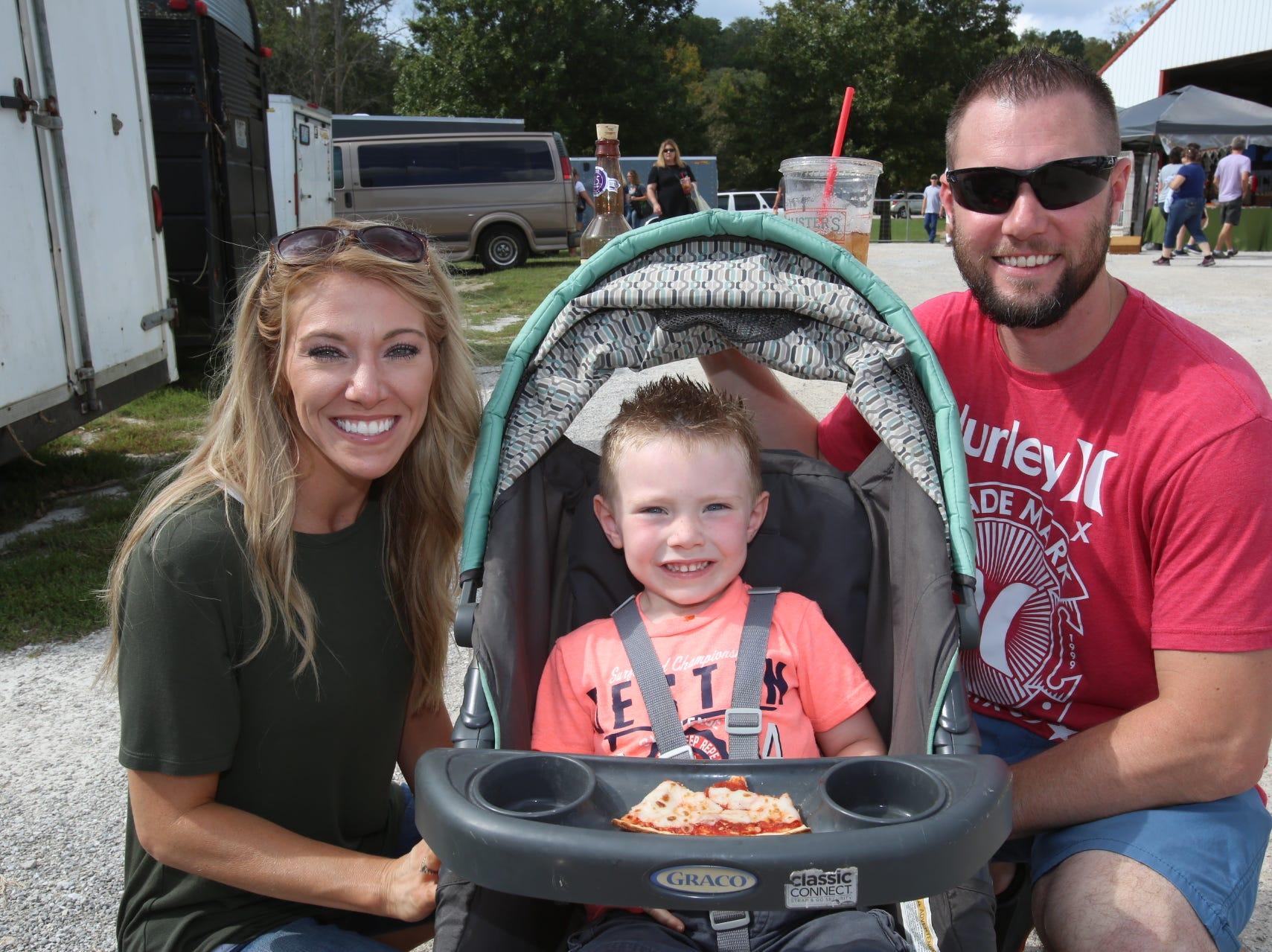 Danielle Price, Josh and Remington Clark