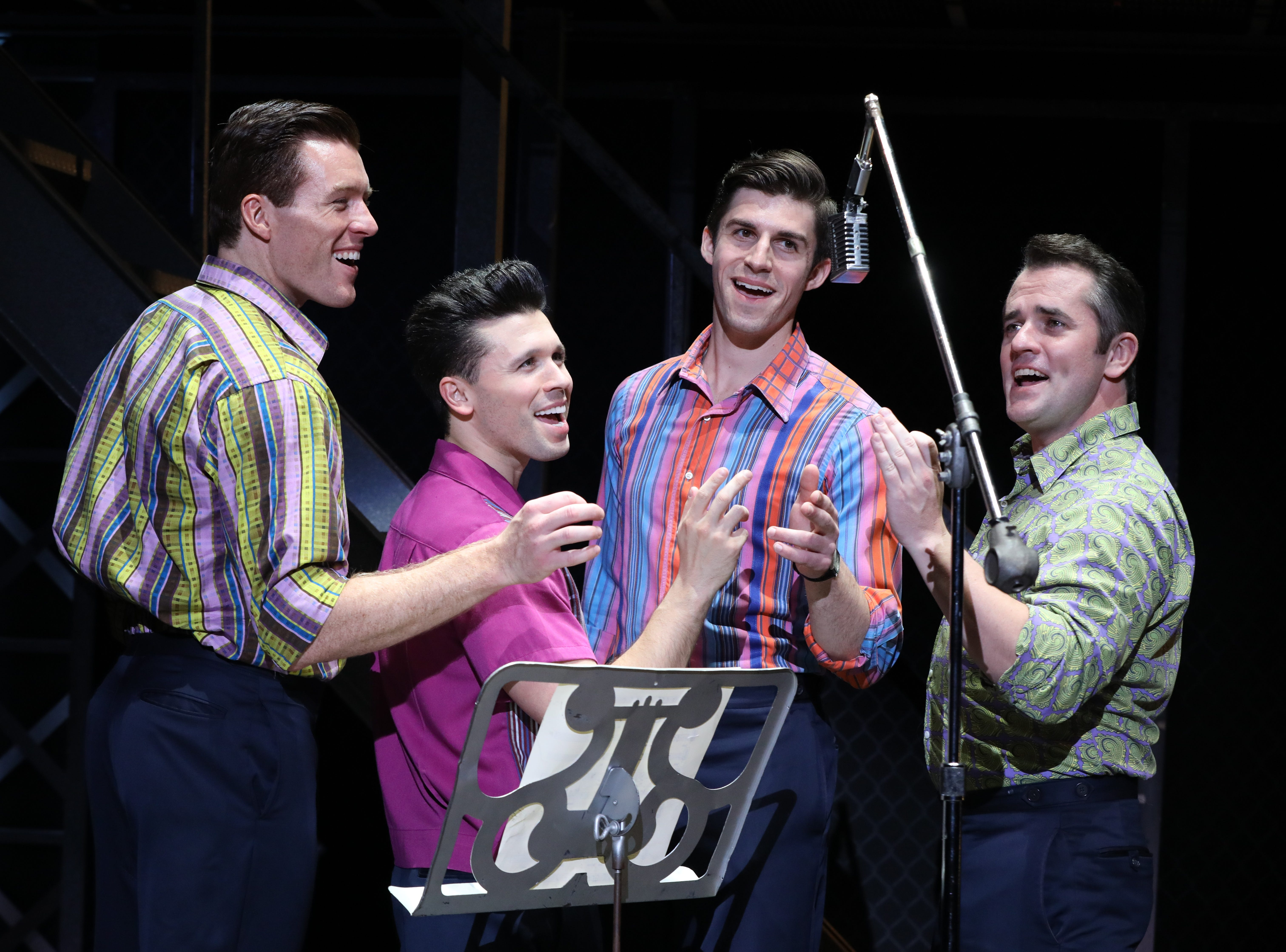 """Jonathan Cable, Corey Greenan, Jonny Wexler and Eric Chambliss, from left, in """"Jersey Boys."""""""