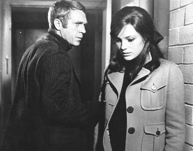 "Steve Mcqueen and Jacqueline Bisset in ""Bullitt."""