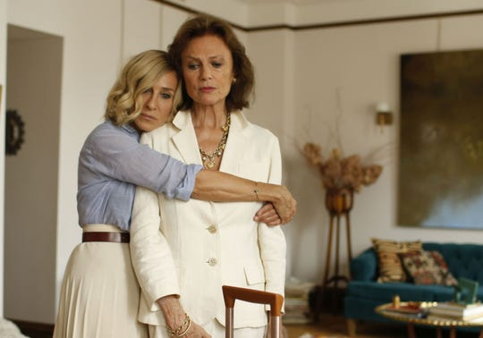 "Sarah Jessica Parker, left, plays Vivienne and Jacqueline Bisset portrays Jeanne in ""Here and Now."""