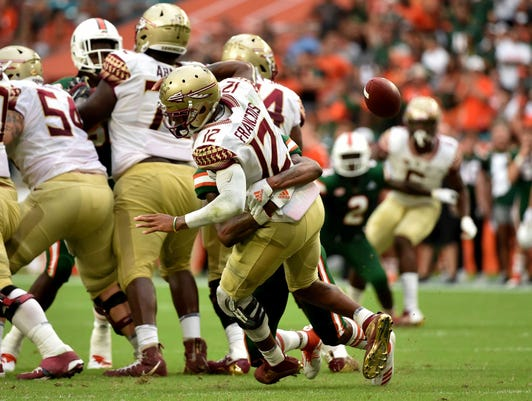 Ncaa Football Florida State At Miami