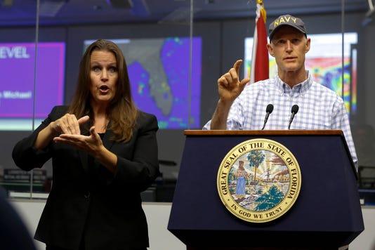 Rick Scott Tropical Storm Briefing 100718 Ts 053