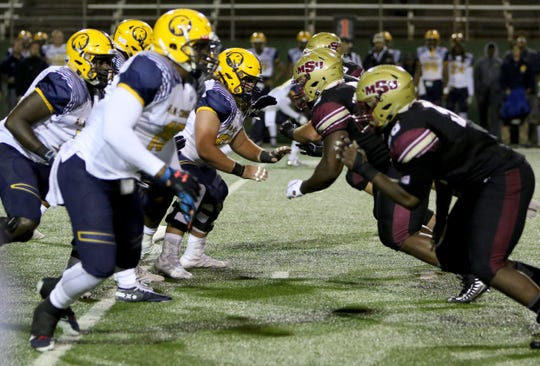 Midwestern State took on Texas A&M-Commerce Saturday, Oct. 6, 2018, between weather delays at Memorial Stadium.