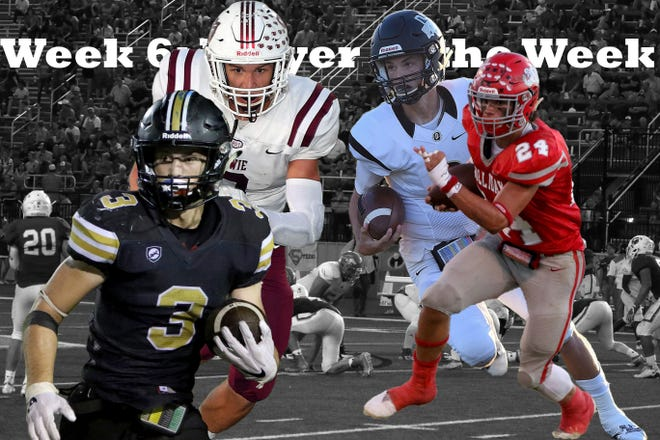 The week 6 nominees for TRN's Player of the Week are Henrietta's Mason Marchman, Holliday's Tristin Boyd, Quanah's Clayton Laughery, Bowie's Ty Harris and Newcastle's J.D. Brice (not pictured).