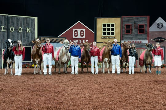 Breed champions of the Junior Show also included inaugural Supreme Champion Heifer of the Junior Show, Junior Champion of the International Junior Red & White Show, Ms Kress-Hil Saphire-Red-ET, exhibited by Owen and Kendyll Kress and Savanah Barts, Newton, Wis., and the Supreme Champion Heifer, Milksource Gentry Marriot-ET, exhibited by MilkSource Genetics, LLC and Finca Valparaiso of Kaukauna, Wis., the Junior Champion of the International Jersey Show.