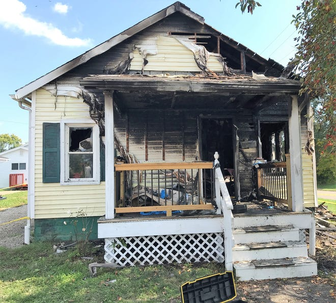 The Zanesville Fire Department was able to get Janeeen Moore out of this burning home on Sunday. She is in intensive care at a Columbus burn center, according to Doug Hobson, interim chief at ZFD.