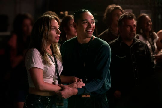 Ramon (Anthony Ramos) supports his friend Ally (Lady Gaga) in 'A Star Is Born.'