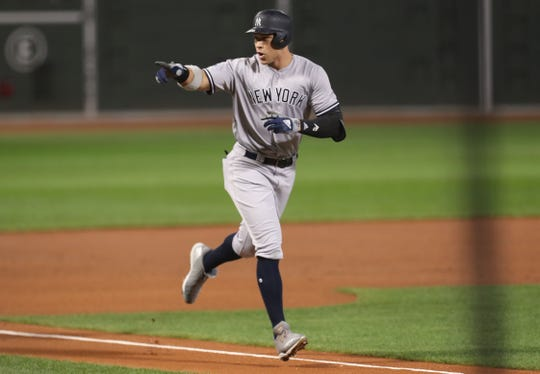 Yankees' Aaron Judge during 2018 ALDS vs. Boston.