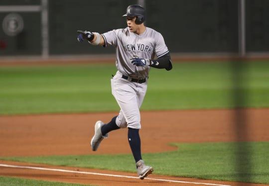 Yankees' Aaron Judge during 2018 ALDS vs. Boston.