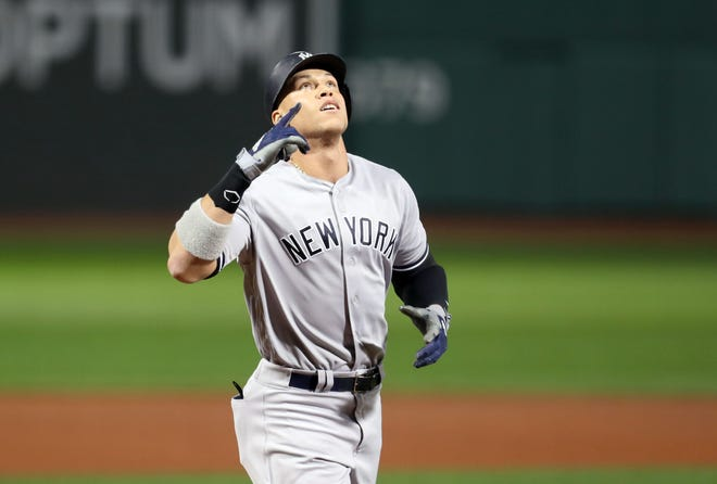 Of Aaron Judge's 16 career postseason hits, 11 have been for extra bases. He has three home runs in three postseason games this October.