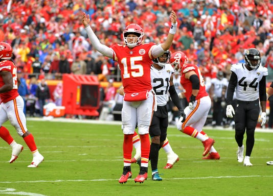 Image result for mahomes vs jaguars