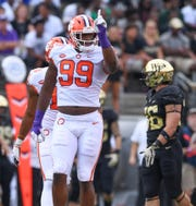 Defensive lineman Clelin Ferrell (99) leads Clemson and is fifth in the nation in sacks.
