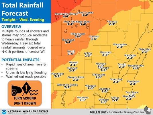 More wet weather the next few days in Wisconsin could cause flooding
