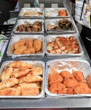 A food selection from Lavallette Pizza at the Columbus Day Festival in Seaside Heights on October 7, 2018. (Photo by Keith Muccilli, Correspondent)
