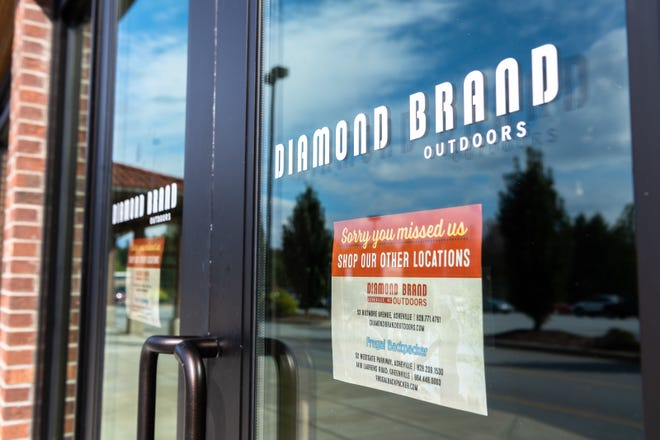The Diamond Brand Outdoors retail store on Hendersonville Road closed for business Oct. 8, 2018.