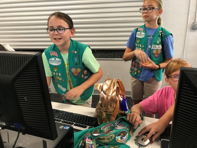 Girl Scouts from Florida's Citrus Council last Saturday were earning merit badges in cyber security.