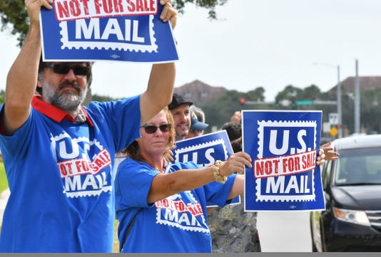 Postal Unions Protest