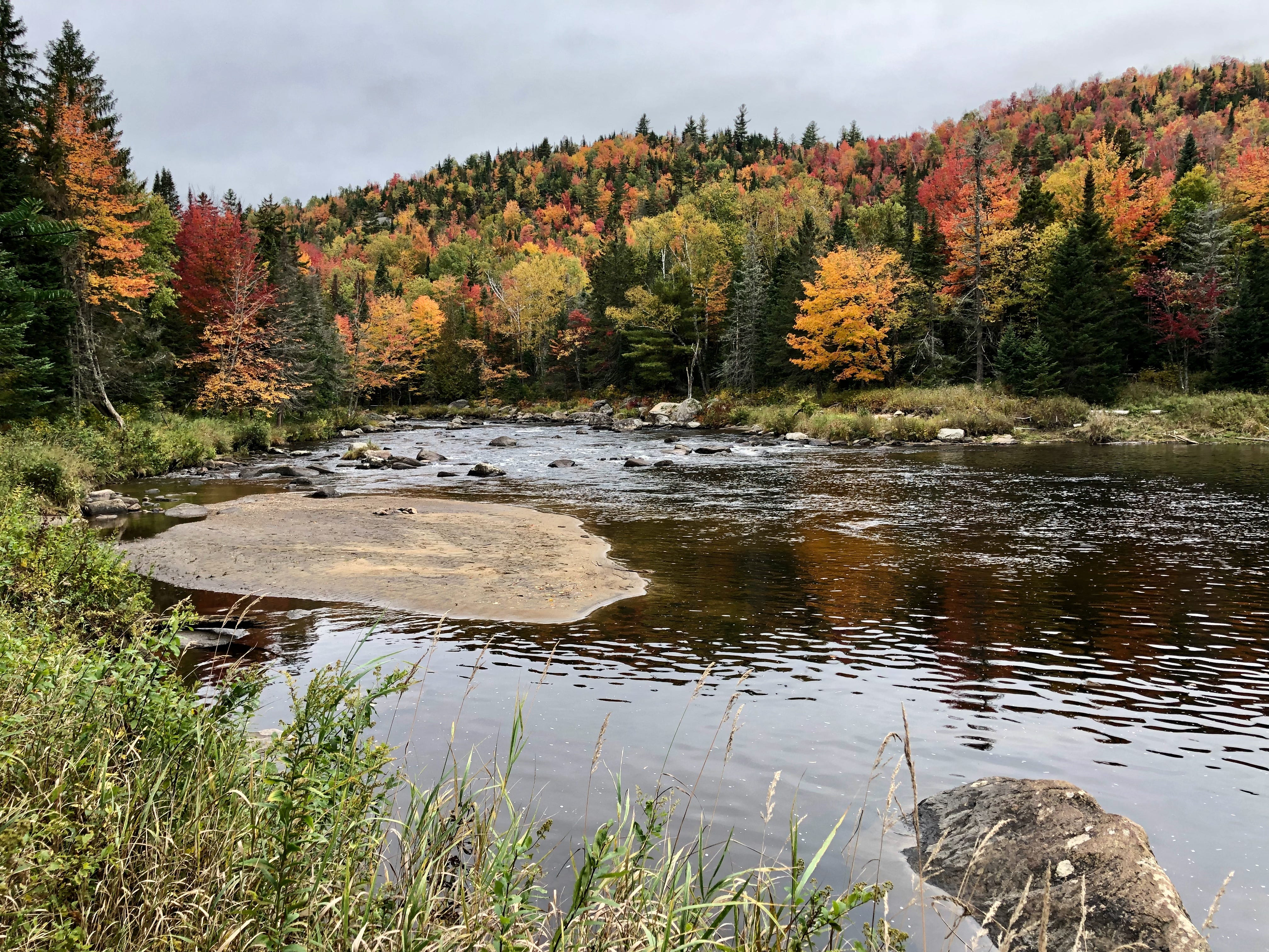 The Ausable River in New York's Adirondack Park on Oct. 6, 2018.