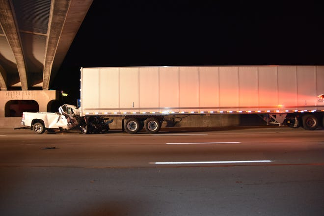 On Saturday at 12:01 a.m., the Florence Police Department received a report of a collision on I-75 northbound near the US 42 exit.