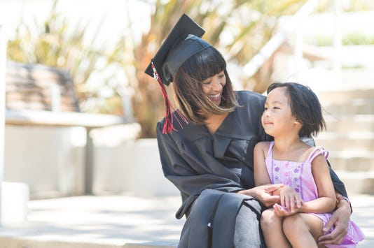 Attaining a degree as a parent can be a difficult but ultimately highly worthwhile endeavor.
