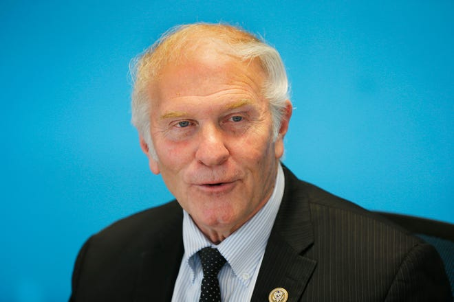 U.S. Congressman Steve Chabot answers questions from The Cincinnati Enquirer editorial board. Photo shot  Monday October 8, 2018.