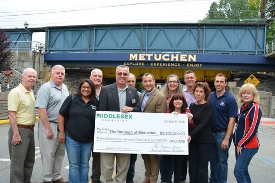 The county is allocating a $3.5 million grant from the Middlesex County Cultural and Arts Trust Fund to help create the Metuchen Arts District. officials said.