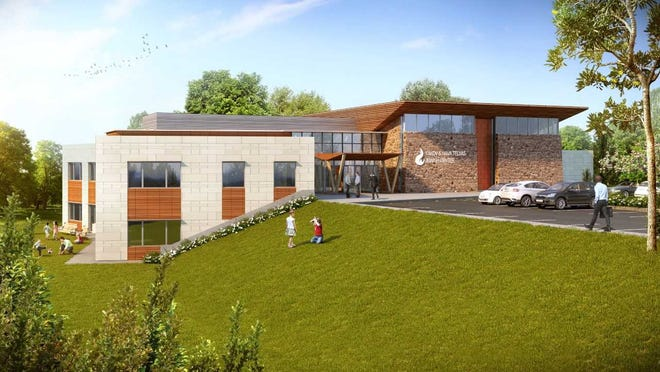 Chabad of Hunterdon's Jewish Community Center will include a synagogue, social hall, Hebrew school, preschool, kosher kitchen, youth lounge, Holocaust education center, library, classrooms and outdoor terraces.